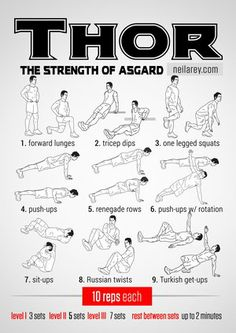 Thor workout: the Strength of Asgard