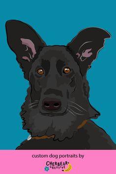 Custom Dog Portraits by Cherbear Creative Studio