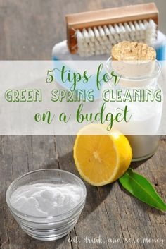 Everyone needs these tips for spring cleaning. You don't have to spend a lot of money to do green cleaning if you follow these 5 tips for green spring cleaning on a budget. |www.eatdrinkandsavemoney.com