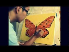 How to Paint Acrylic Butterfly Timelapse Tutorial