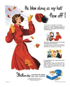 1949 Icilma Cosmetics ad. #vintage #1940s #autumn #beauty