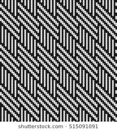 Black and white Jacquard Fairisle Seamless Knitting Pattern Bead Loom Patterns, Mosaic Patterns, Fabric Patterns, Cross Stitch Patterns, Knitting Charts, Knitting Stitches, Knitting Patterns, Cross Stitch Horse, Bargello Needlepoint