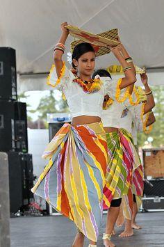 Traditional Sri Lankan harvesting dance .