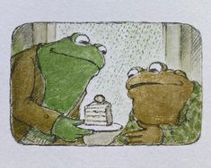 Frog and toad cake