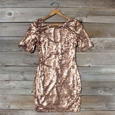Rose Gold Party Dress, Sweet Women's Bohemian Clothing on Wanelo Rose Gold Party Dress, Bohemian Style, Bohemian Clothing, Bohemian Gypsy, Bohemian Fashion, Vintage Bohemian, Sparkly Outfits, Sparkly Dresses, Women's Dresses