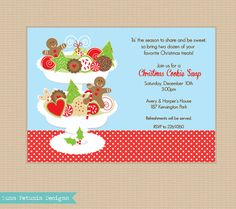Christmas Cookie Exchange Swap . Holiday by LunaPetuniaDesigns, $10.50