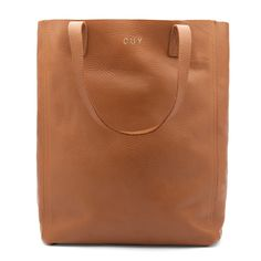 Leather Tote (Tall) Caramel