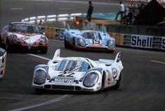917 KH driven by Helmut Marko and Gijs van Lennep Sports Car Racing, F1 Racing, Road Racing, Race Cars, Lemans Car, Ferrari, Porsche, Course Automobile, Le Mans 24
