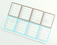 Full box planner checklist stickers for Erin Condren Vertical Planner
