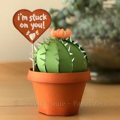 paper cactus succulent party favor gift box svg cutting file Cricut Silhouette    http://etsy.me/2mhm0qM