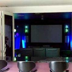 Home theater and bar. #LimaOhio #HomeTheater