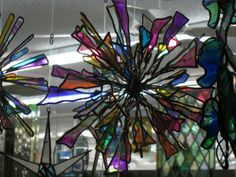 twisted stained glass ball / sculpture - I so want to create one of these... so AWESOME!