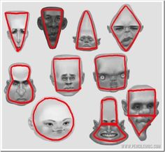 drawing caricatures head shapes and facial features                                                                                                                                                                                 Más