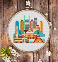 This is modern cross-stitch pattern of Boston for instant download. A cool tip to decorate your living room. You will get 7-pages PDF file, which includes: - main picture for your reference; - colorful scheme for cross-stitch; - list of DMC thread colors (instruction and key section); - list of calculated thread length The size of the picture is 6.93 X 7.50 (17.60 cm X 19.05 cm) - 120 X 120 stitches on Aida 14 count It is a digital pattern and will be available to download when the…
