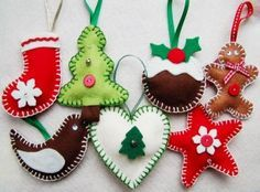 Making Felt Christmas Decorations - Part Four - Gift Ideas For Her