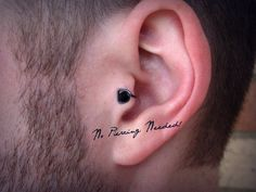 Pharoah Men's Tragus Cuff GRIPPY gray wire black by ZyDesigns, $19.99