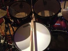 Mapex Snare and Toms with Evans heads