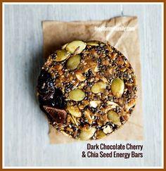 No-Bake Dark Chocolate Cherry and Chia Energy Bars Recipe