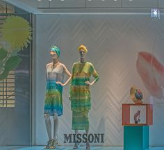 Missoni Tokyo Windows Display 2015 as Part of the World Fashion Window Displays on April 12 2015 in Tokyo Japan