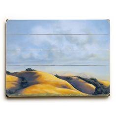 Golden Hills by Artist Cory Steffen Wood Sign
