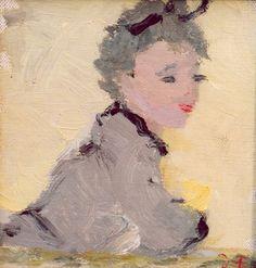 Dietz Edzard -  Jeune Femme au Balcon 1950