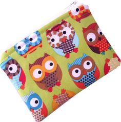 Bright Owls Cute Coin Purse by Saysie on Etsy, $7.50
