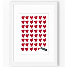 A personal favourite from my Etsy shop https://www.etsy.com/listing/248455249/heart-letter-illustration-love-room
