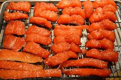 Salmon Candy After Marinating