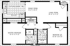 800 sq ft house plan Manufactured Home Floor Plans 800 sq ft - 999 sq ft Small Floor Plans, Small House Plans, House Floor Plans, 800 Sq Ft House, Bungalow, Manufactured Homes Floor Plans, Cottage Plan, Cabana, Cabins And Cottages