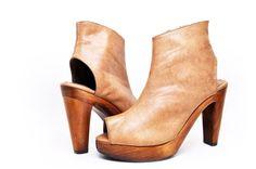 Elizabeth Detroit - Billy Faux Leather Brown Booties