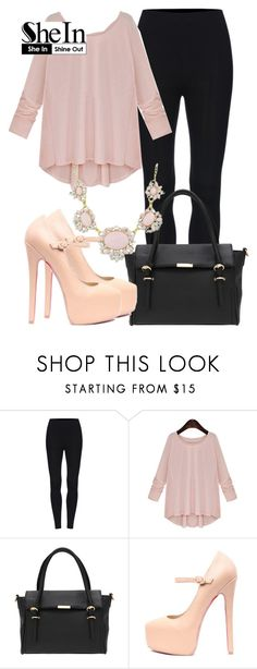 """""""SheIn"""" by deedee-pekarik ❤ liked on Polyvore featuring blouse, PinkBlouse and shein"""