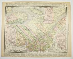 John Canada Chalifour ca Old Antique Decorative Map of Halifax and St 1915