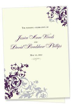A perfect wedding program