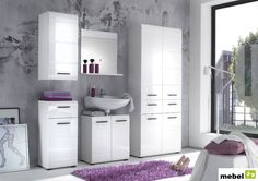Awesome colonne salle de bain but ideas - house design - mar White Bathroom Cabinets, Bathroom Mirror Cabinet, Ikea Bathroom, Mirror Cabinets, Bathroom Furniture, Home Furniture, Drawer Design, Cabinet Design, Black White Bathrooms
