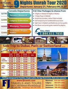In the event that you are living in #Toronto and meaning to #Umrah's excursion, you required to get an Umrah visa From the Saudi Arabia government office which is in Ottawa. Umrah visa is substantial for 16 to 28 days and in the regions of #Jeddah, Mecca and #Medina urban areas. Also, one more thing that the dates utilized on Saudi visas depend on the Hajri schedule, which is a #MuslimSchedule. Medina City, Toronto City, Airline Tickets, Jeddah, 45 Years, 28 Days, Tour Operator, Travel Tours, Mecca