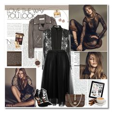 """Gigi hadid"" by mery90 ❤ liked on Polyvore featuring Jakke, Givenchy, Valentino, Steve Madden, Olivia Burton, Bobbi Brown Cosmetics, FOSSIL and Yves Saint Laurent"