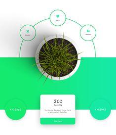 Plantapp - U Plant App on App Design Served Best Cooking Apps, Web Design, Smart Garden, App Design Inspiration, Mobile App Design, Mobile Ui, Web Layout, Layout Design, Screen Design