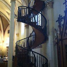 Staircase at Loretta church. Santa Fe, NM