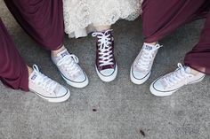 Our Wedding: Bridal Party Attire - All Things Kate Chucks Wedding, Maroon Wedding, Our Wedding, Wedding Sneakers, Wedding Shit, Gothic Wedding, Party Wedding, Wedding Makeup, Wedding Favors