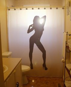 Sexy Shower Curtain Ideas pinup girl shower curtain sexy lady nude picasso bathroom decor