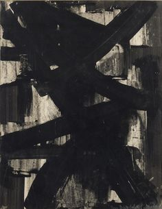 Pierre Soulages gouache on paper, 1954 Tachisme, Gouache, Modern Art, Contemporary Art, Georges Pompidou, Abstract Geometric Art, Graphic Artwork, Art Archive, Art Moderne