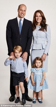 The Duke and Duchess of Cambridge shared a new family portrait today with their children Prince George and Princess Charlotte