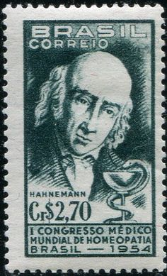 Samuel Hahnemann - Brasile 1954 Francobolli Medicina - Personaggi famosi - Medicine Stamps - Famous People