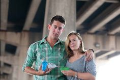 """""""Our Last Fight"""" Water balloon Engagement Session. So awesome. Allebach Photography."""