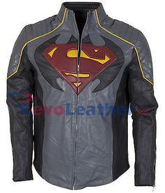 Batman Vs Superman Dawn Of Justice Shield Grey Leather Jacket Celebrity