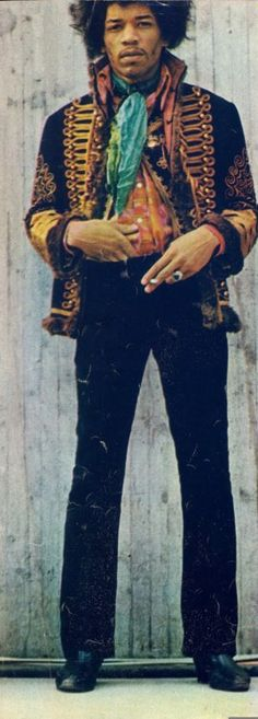 jimi hendrix - if you're a rock star, you can wear cool stuff like this and no one will make fun of you