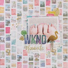 WKND Layout by Jill Keller *see the sketch on the sidebar* Supplies: Crate Paper Oasis Postcard Paper Crate Pape. Cruise Scrapbook, Travel Scrapbook Pages, Scrapbook Layouts, Gossamer Blue, Postcard Paper, Crate Paper, Sketch Inspiration, Mini Albums, Gallery Wall