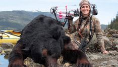 I am a world class douche bag. See me smile. I hope these innocent animals lives fall upon hers when she is old and shitting herself in her bed. This totally blows my mind. A women can bring life into this world, yet so evil she can can reign. Big Game Hunting, Bear Hunting, Trophy Hunting, Bow Hunting Women, Hunting Girls, Father Time, You Stupid, Alaska, Stop Animal Cruelty