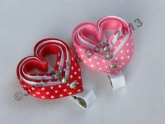 ▶ How To Make a Ribbon Woven Heart Valentine's Day Hair Clip - YouTube