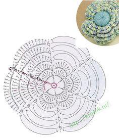 Crochetpedia: Patterns 2D ganchillo Flores gratis